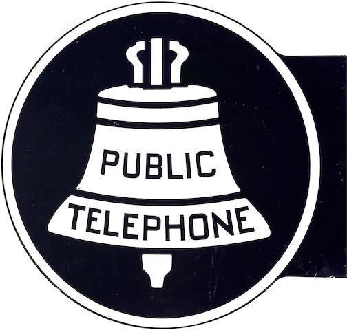A Public Phones flange sign,