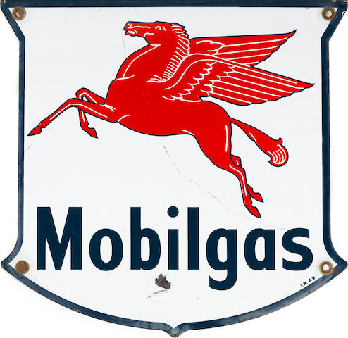 A Mobilgas Pump plate, c.49,