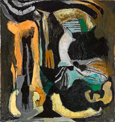 Frank Lobdell (American, born 1921) 14 May 48, 1948 36 x 34in (91.4 x 86.4cm)