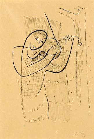 David Park (1911-1960) Violinist, 1933 12 x 8 1/2in (30.5 x 21.6cm)