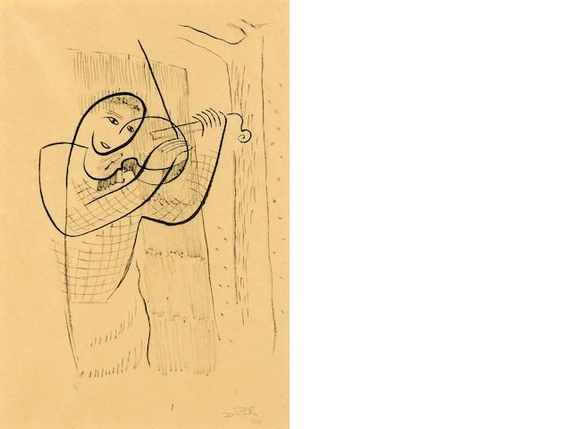 David Park (American, 1911-1960) Violinist, 1933 12 x 8 1/2in (30.5 x 21.6cm)
