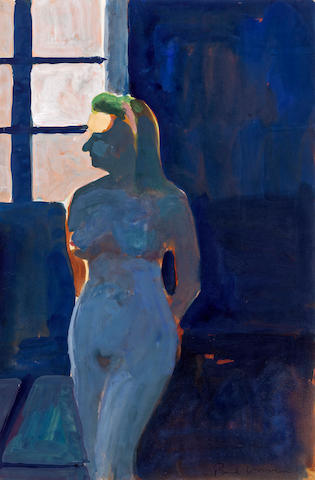 Paul Wonner (1920-2008) Model Against Light (Female), 1964 17 3/4 x 11 3/4in (45.1 x 29.8cm)