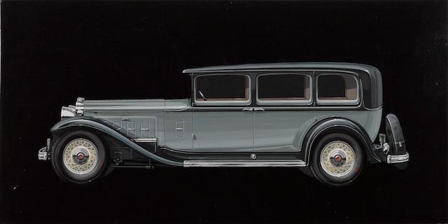 A Werner Gubitz Packard styaling art,