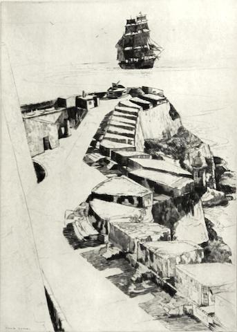 Philip Kappel (American, 1901-1981); Off El Morro, Puerto Rico;