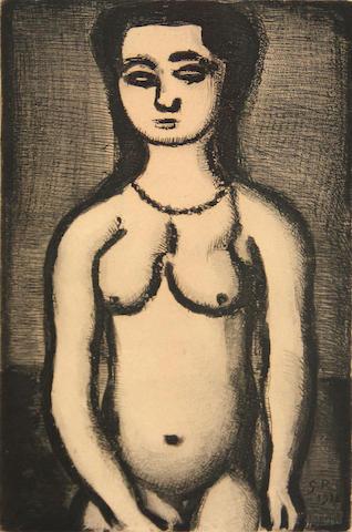 Georges Rouault (French, 1871-1958); Fille nue, Pl. 12,  from Réincarnations du Père Ubu;