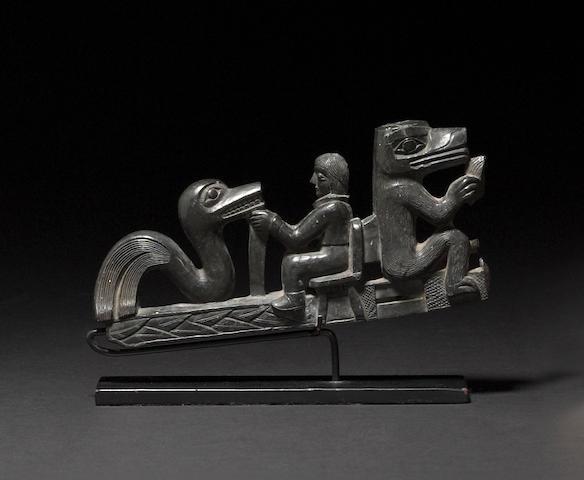 A Haida argillite pipe (fragment)