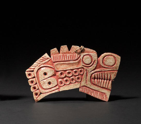 A Northwest Coast bone amulet
