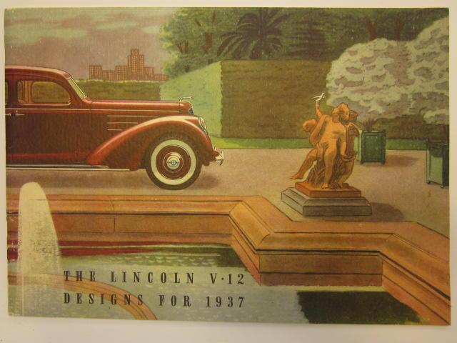 A lincoln V12  brochure, 1937
