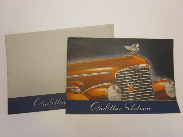 A  Cadillac V16 body styles brochure, 1938,