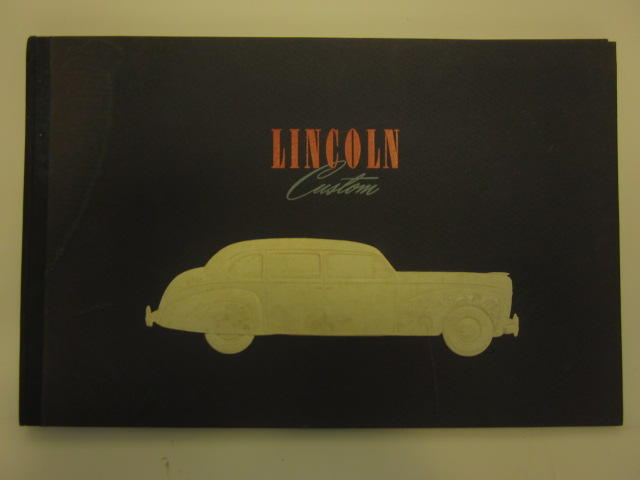 A Lincoln Customs brochure, 1941,