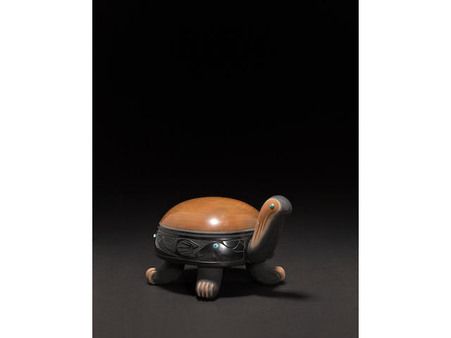 A San Ildefonso polychrome turtle effigy