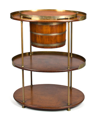 A three oval tier campaign bar  33-1/4 x 27-3/4 in.