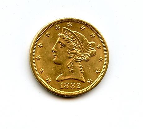 1882-S $5
