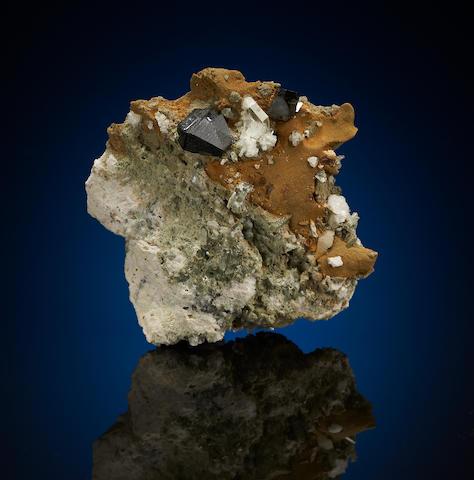 Anatase, Calcite, Albite and Quartz
