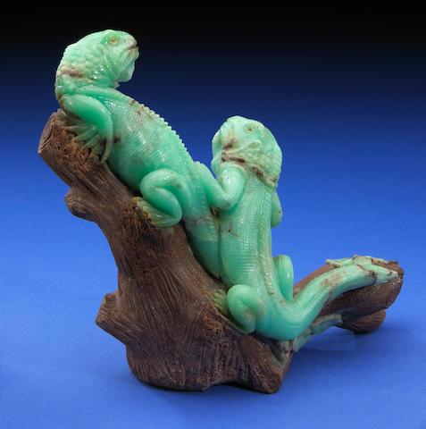 Chrysoprase Pair od Iguanas