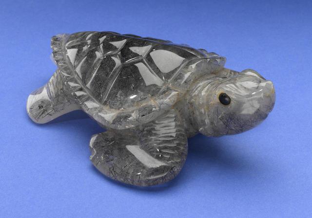 Tourmalinated Quartz Turtle