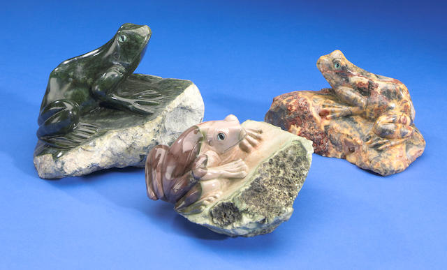 Collection of 3 Serpentine Frogs