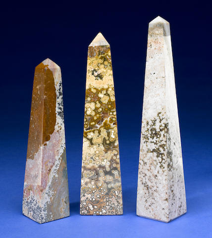 Three Ocean Jasper Obelisks