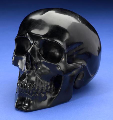 Carved Jet Skull
