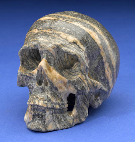 "Arctic Circle Gneiss Carved Skull--""Oldest Rock in the World"""