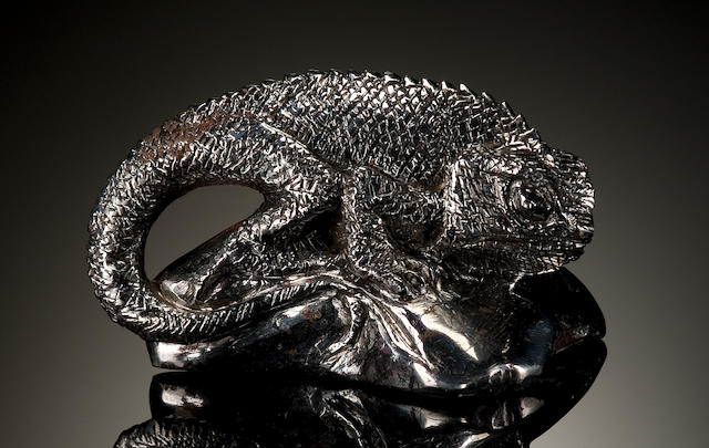 Carved Meteorite Lizard (Campo)