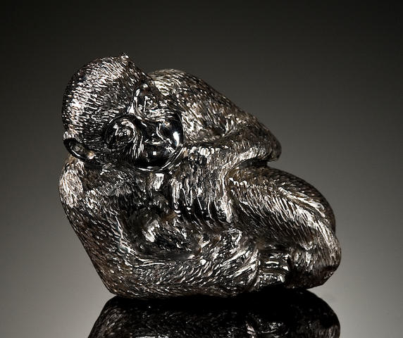 Carved Meteorite Monkey (Gibeon)