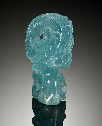 Carved Aquamarine Dragon