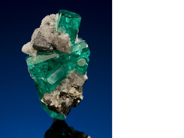 Emerald on Pyrite Matrix
