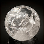 Rock Crystal Quartz Sphere, 6""