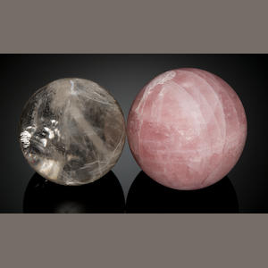 "Rock Crystal 3"" Sphere, Rose Quartz Sphere"
