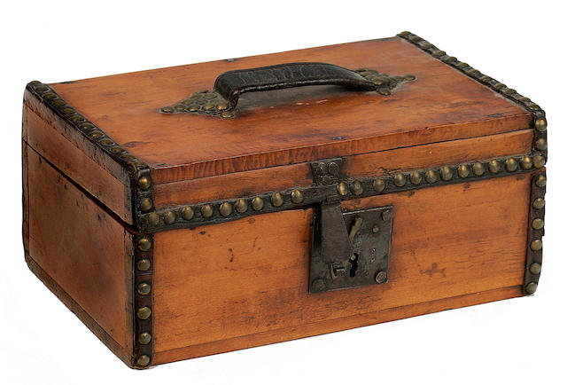 A document box  12 x 7-1/2 x 5-1/2 in. (30.4 x 19 x 13.9 cm.)