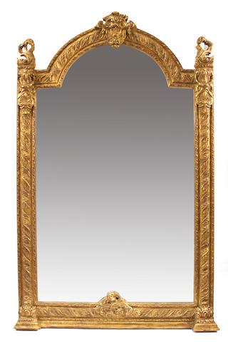 A Louis XV style giltwood mirror