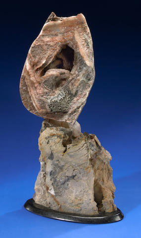 "Smokey Quartz + Atlas Mountains Geode Sculpture, 25""X11""; Leo Atkinson"