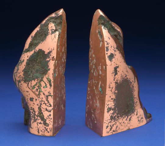 Pair of Copper Bookends
