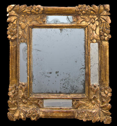 A Regence style giltwood mirror<BR />late 19th century