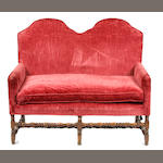 A William and Mary walnut settee