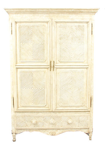 A William Switzer paint decorated armoire