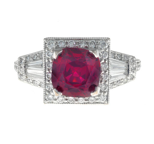 A red spinel and diamond ring, Parade Design