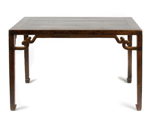 A Chinese hardwood painting table