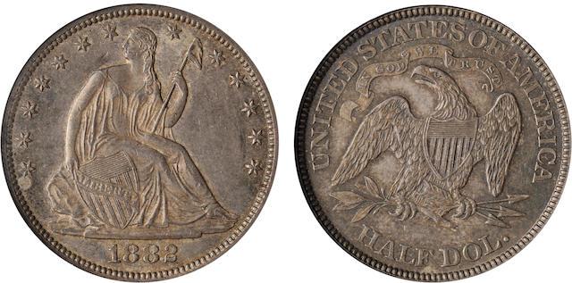 1882 50C MS60 NGC