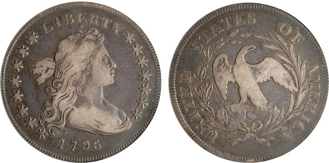 1796 $1 Small Date, Large Letters, Fine 12 ANACS