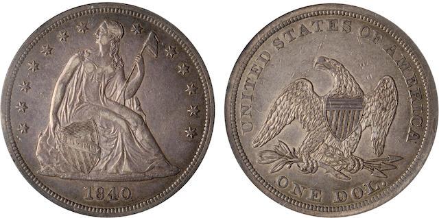 1840 $1 AU55 NGC