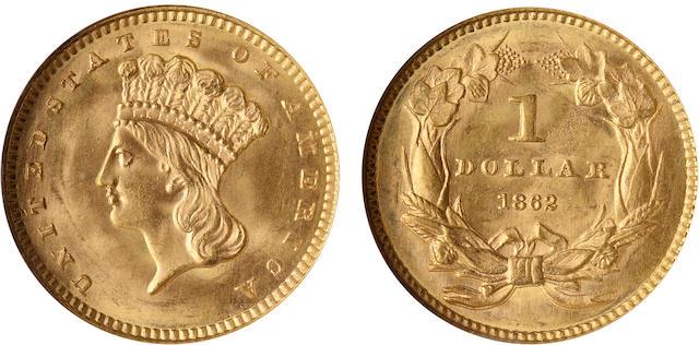 1862 G$1 MS65 NGC
