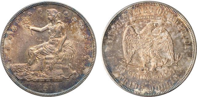 1877-S TR$1 MS64 PCGS
