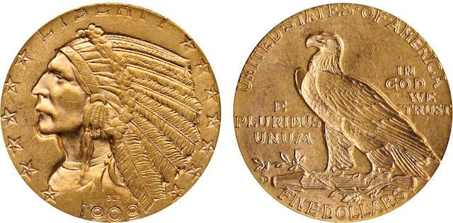 1909-D $5 MS63 PCGS