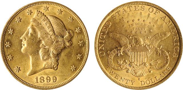 1899-S $20 AU58 Details ANACS