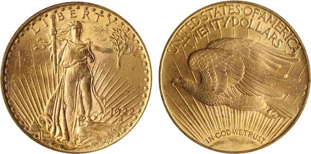 1922 $20 MS63 PCGS