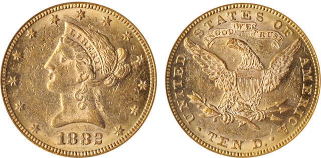 1882 $10 AU55 PCGS