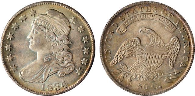 1834 50C MS65 PCGS