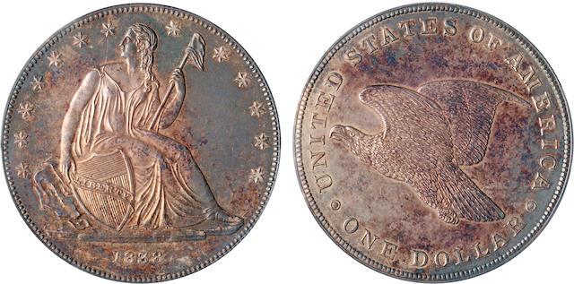 1838 Gobrecht Dollar, Name Removed, Judd-84 Restrike, Pollock-93. R.5, Proof 63 PCGS